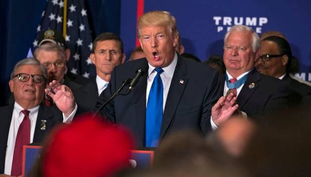 El candidato republicano a la Presidencia de EE UU, Donald Trump.