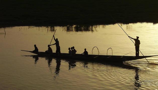 Un grupo de pescadores de Mali.