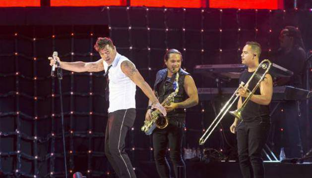 El músico y cantante puertorriqueño Ricky Martin.