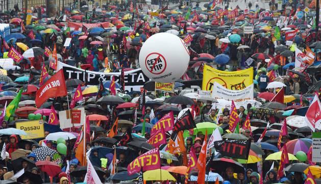 Una de las protestas en Alemania