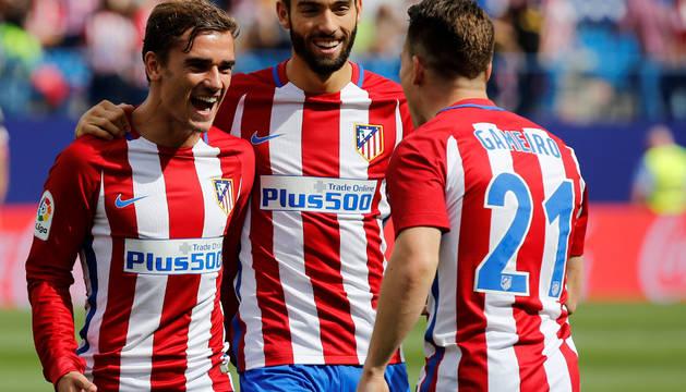 Griezmann, Carrasco y Gameiro, en el Calderón.