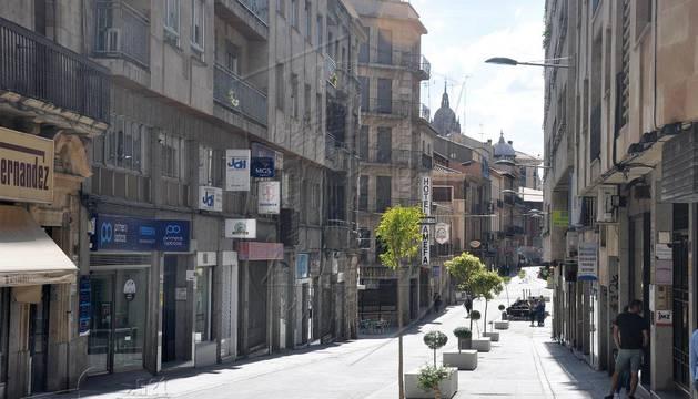 Calle Pozo Amarillo de Salamanca, lugar del suceso