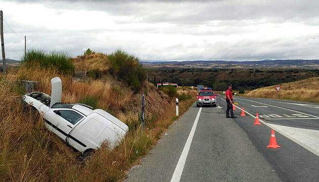 El vehículo, en el lugar del accidente.