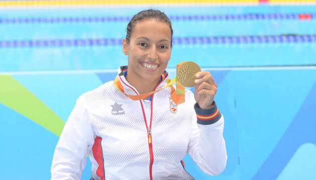 La nadadora española y ganadora de oro, Teresa Perales.