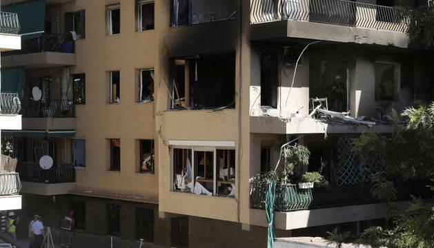 El edificio de la explosión.
