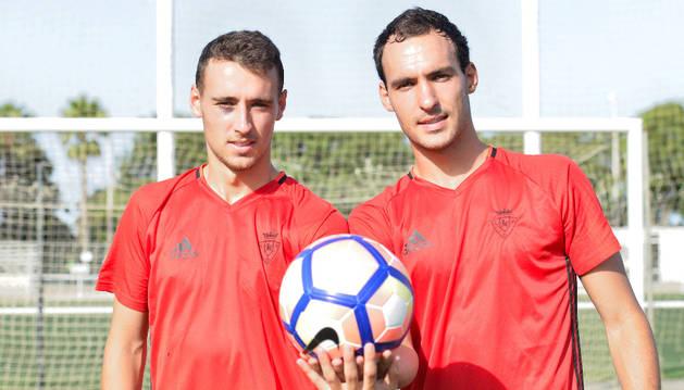 Los hermanos Imanol y Unai García Lugea, en la pasada pretemporada