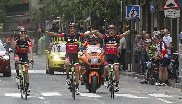 Uno de los tres tripletes, el de Estella,  que ha conseguido el equipo Lizarte esta temporada.