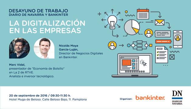 Marc Vidal, este martes en el desayuno de trabajo Diario de Navarra-Bankinter