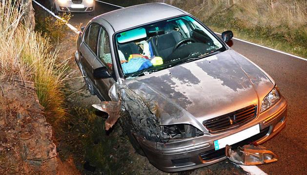 Imputado un conductor ebrio tras un accidente en Olite