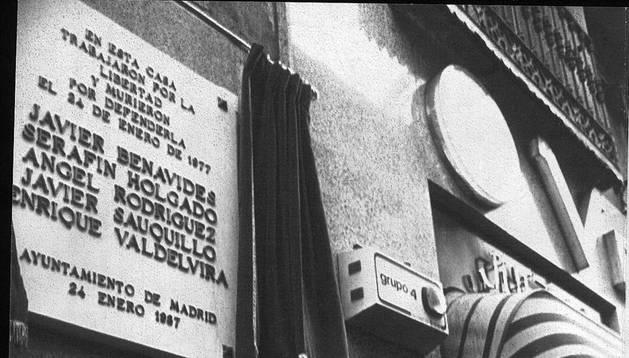 Un premio honrará a los abogados de Atocha en el 40 aniversario de la matanza