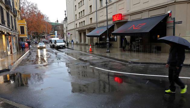 La calle Duque de Ahumada donde ocurrió el atropello el 31 de diciembre