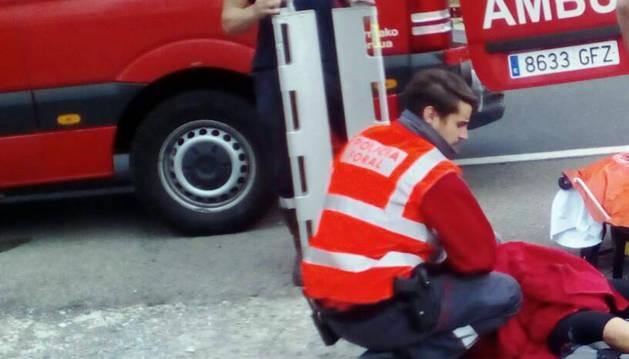 Herida en Cascante tras caerse con la bicicleta