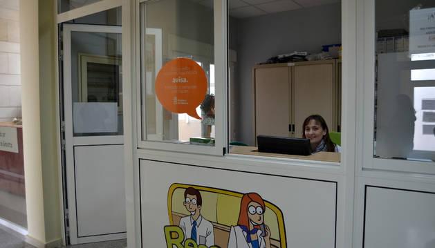 Interior del consultorio médico de Andosilla, perteneciente a la zona básica de salud de San Adrián.