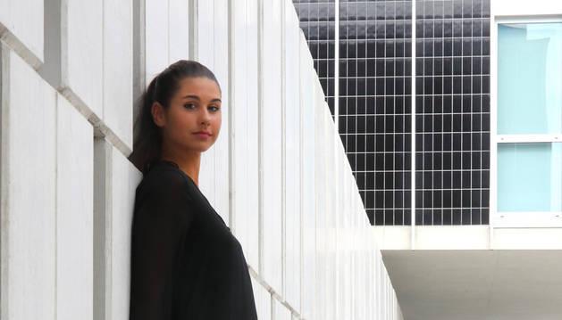 Marta Olaz Pascualena en el Conservatorio de Pamplona.