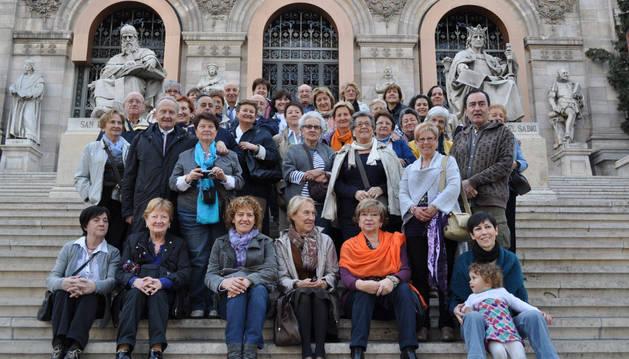 Viaje cultural a Madrid (Biblioteca Nacional) con la Universidad de Mayores de Bilaketa, en el curso 2012-13.