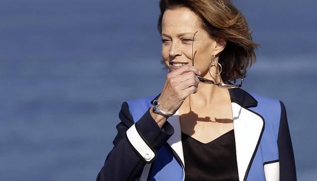 Sigourney Weaver, en San Sebastián para recibir el premio Donostia