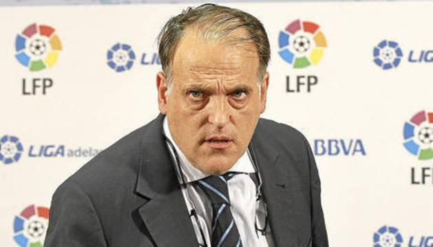 Javier Tebas ha dimitido esta mañana de su cargo como presidente de la LFP