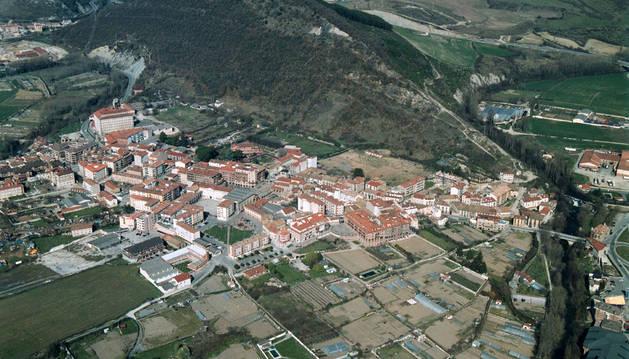Vista aérea de Huarte, lugar donde se ha registrado uno de los avisos del timo.