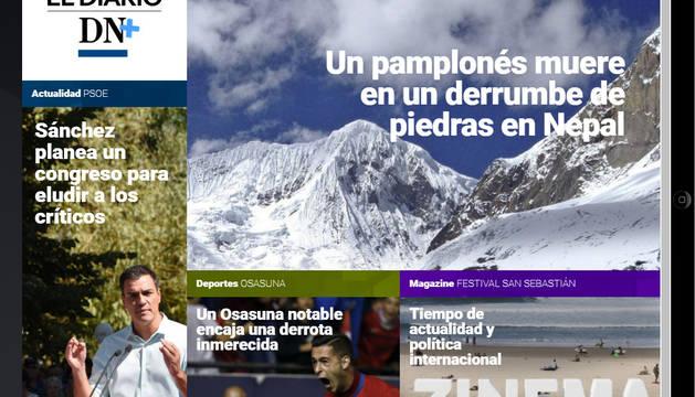 Un montañero pamplonés fallece en Nepal, en el Diario DN+