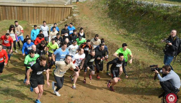 Participantes de la carrera celebrada en Irrisarri Land el pasado marzo.
