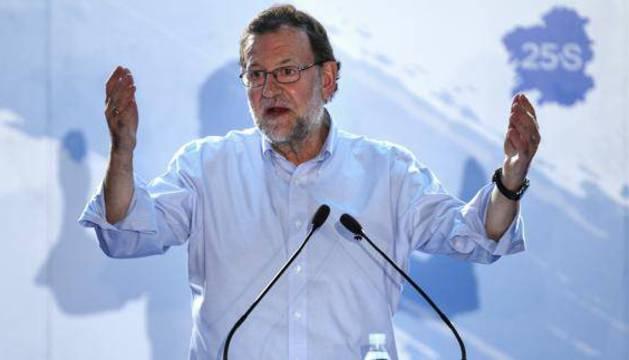 Mariano Rajoy en un acto en Lugo.