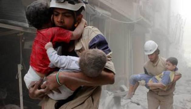 Los cascos blancos sirios