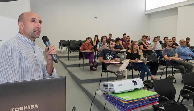 Martín Ibarra Murillo presentó el Plan Energético de Navarra Horizonte 2030 ayer en Estella.