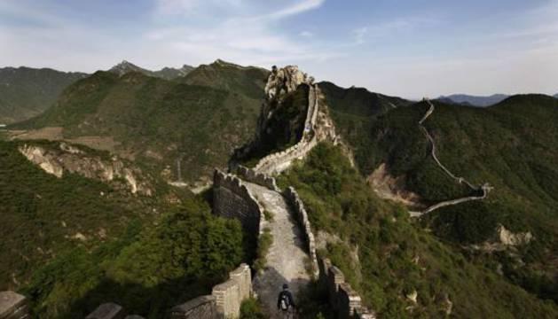 Tramo de la Gran Muralla china antes de la polémica reparación.