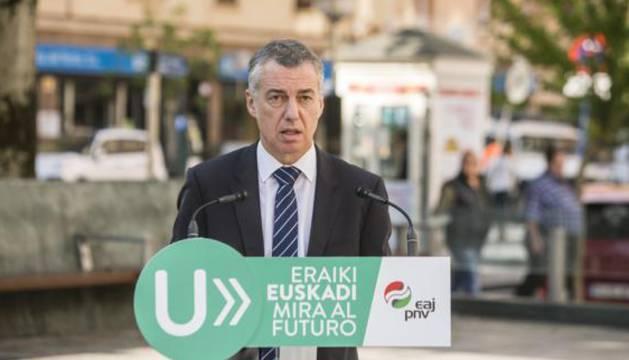 El lehendakari y candidato a la reelección por el PNV, Iñigo Urkullu.
