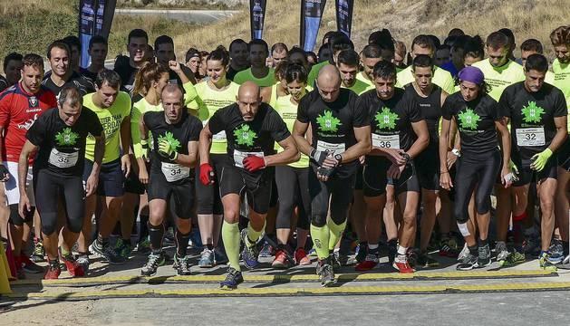 Imágenes de la primera carrera de obstáculos celebrada en Ayegui