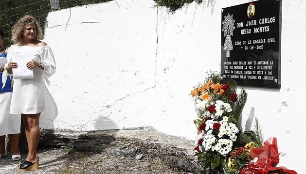 Autoridades, familiares y vecinos de Leitza recuerdan al cabo Beiro