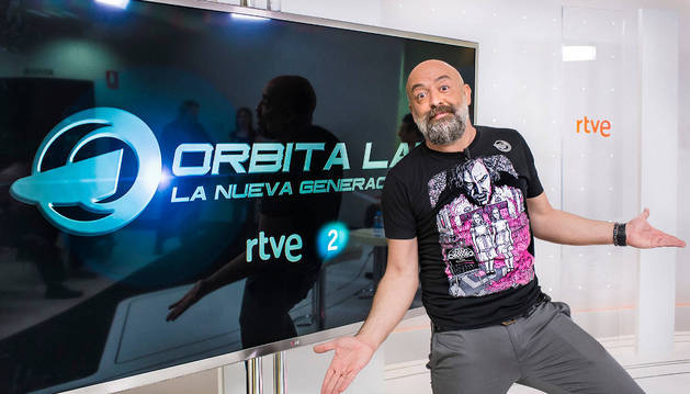 Goyo Jiménez, presentador de la nueva temporda de Órbita Laika.