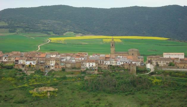 Un incendio quema una hectárea de vegetación y frutales en Aguilar de Codés