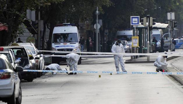 Dos policías heridos en una explosión en el centro de Budapest