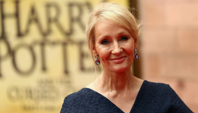 J.K. Rowling en la presentación de 'Harry Potter y el legado maldito' en Londres.