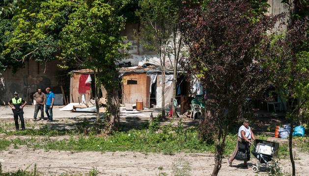 El asentamiento chabolista de Santa María la Real se levantó a comienzos del mes de julio.