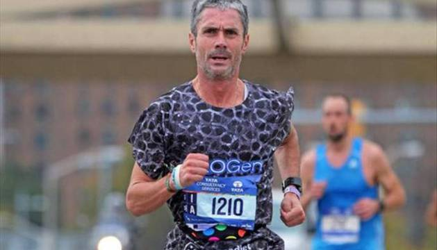 Martín Fiz, en su participación en el  Maratón de Nueva York. Allí dio inicio a su reto de los seis 'majors'.