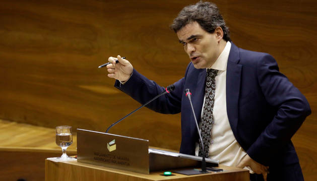 Germán Garmendia, en el Parlamento navarro.