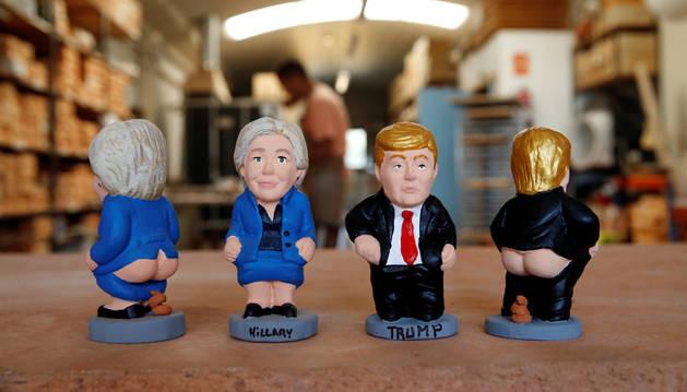 Hillary Clinton y Donald Trump ya tienen su figura de 'caganer'
