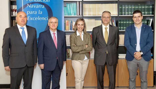 Marino Barasoáin, Juan José Cuns, Izaskun Goñi, José Ignacio Larretxi y José Félix García Tinoco.