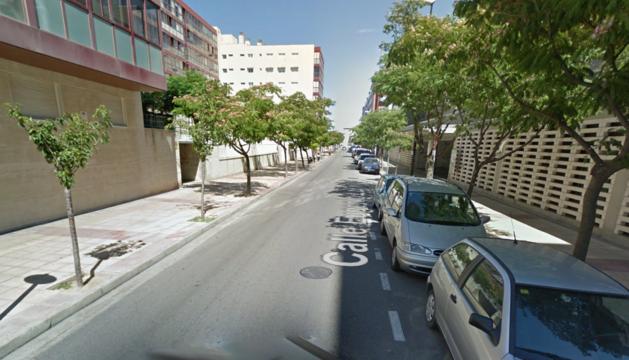 Imagen de la calle Eugenio Lucas de Zaragoza, lugar donde se ha producido el incendio.