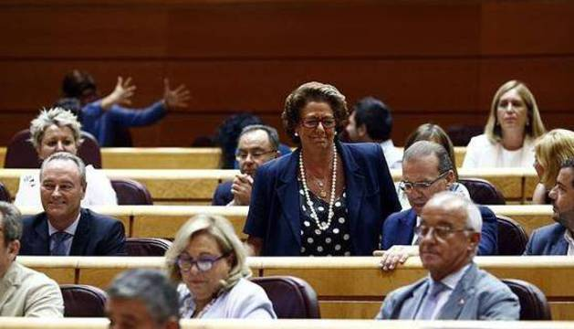 Rita Barberá en el Senado.