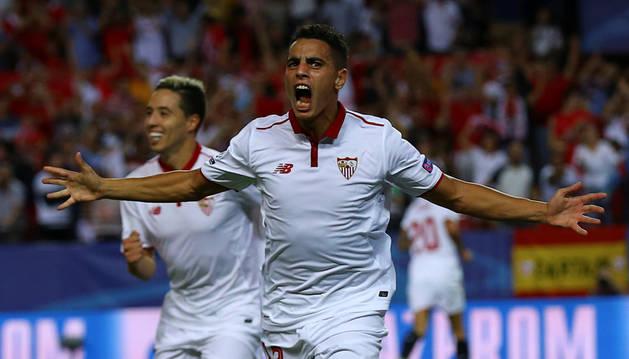 Ben Yedder celebra el único gol del partido.