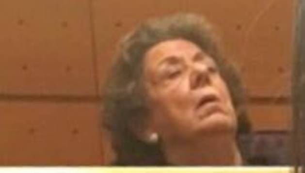 Rita Barberá, este martes en el Senado.