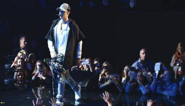 Justin Bieber en los MTV Europe Music Awards del año pasado.