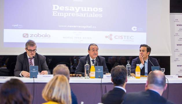 El secretario de Estado para la UE, en la conferencia impartida en Pamplona.