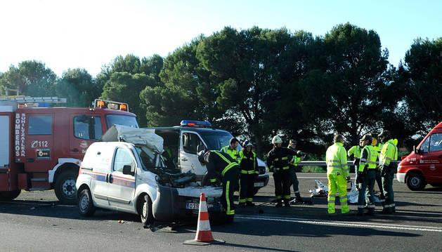 Imagen del accidente de Villafranca, ocurrido en 2014.