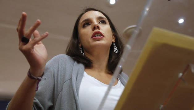 La portavoz de Podemos en el Congreso, Irene Montero.