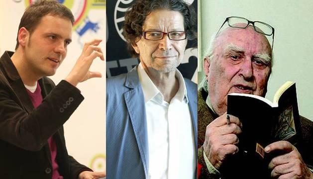 Kirmen Uribe, Jorge Zepeda y Andrea Camilleri