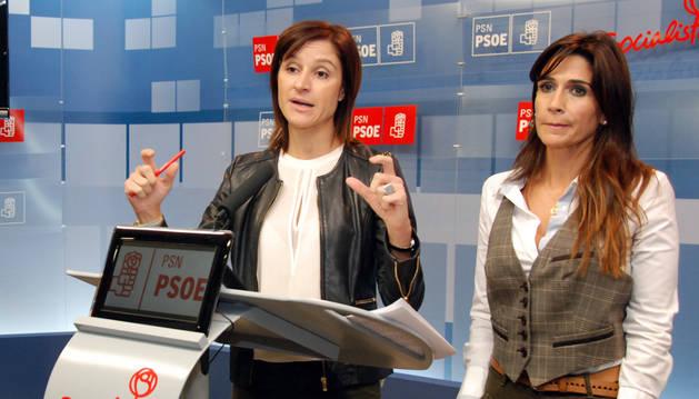 Las dirigentes socialistas Marian Sainz y Nuria Medina